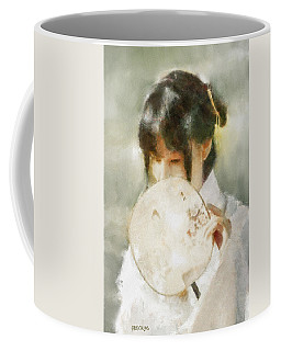 Coffee Mug featuring the digital art Demure by Greg Collins