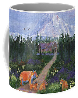 Coffee Mug featuring the painting Denali by Jamie Frier