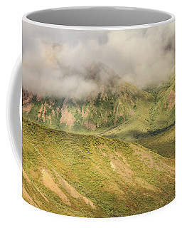 Denali National Park Mountain Under Clouds Coffee Mug