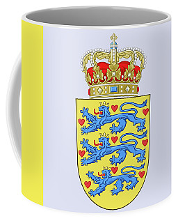Coffee Mug featuring the drawing Denmark Coat Of Arms by Movie Poster Prints