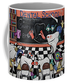 Coffee Mug featuring the painting Dental School by Anthony Falbo