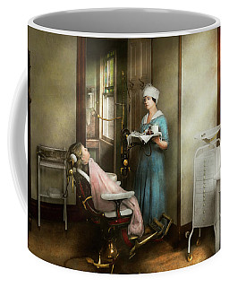 Coffee Mug featuring the photograph Dentist - Patients Is A Virtue 1920 by Mike Savad