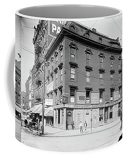 Coffee Mug featuring the photograph Dentist - Peerless Painless Dental Parlors 1910 - Side By Side by Mike Savad