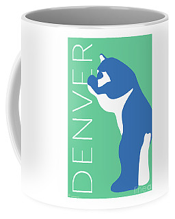 Denver Blue Bear/aqua Coffee Mug