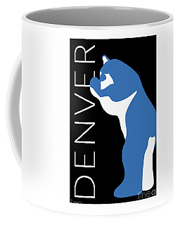 Denver Blue Bear/black Coffee Mug
