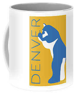 Denver Blue Bear/gold Coffee Mug