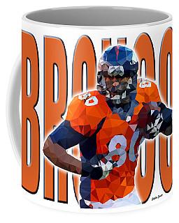 Coffee Mug featuring the digital art Denver Broncos by Stephen Younts