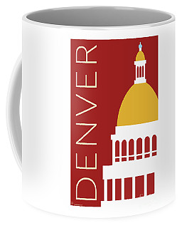 Denver Capitol/maroon Coffee Mug
