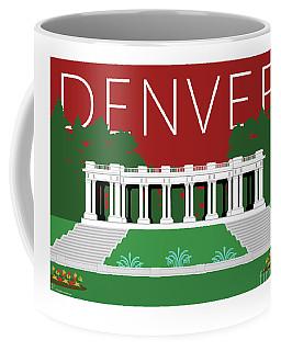 Denver Cheesman Park/maroon Coffee Mug
