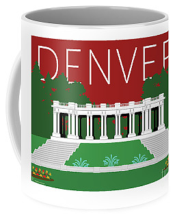 Denver Cheesman Park/maroon Coffee Mug