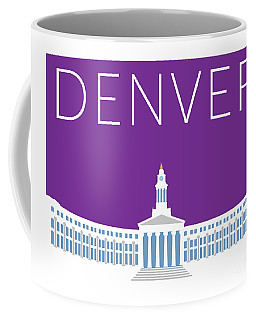 Denver City And County Bldg/purple Coffee Mug