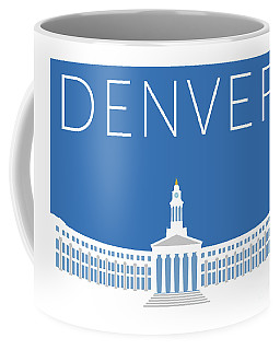 Denver City And County Bldg/blue Coffee Mug