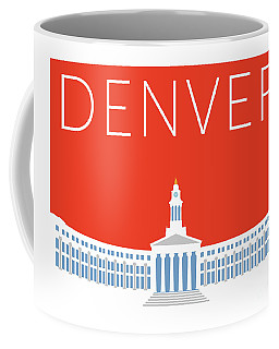 Denver City And County Bldg/orange Coffee Mug