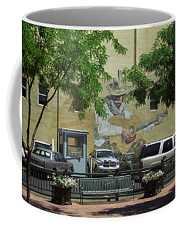 Coffee Mug featuring the photograph Denver Cowboy Parking by Frank Romeo