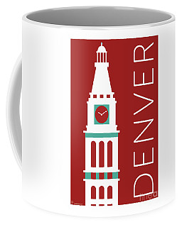 Denver D And F Tower/maroon Coffee Mug
