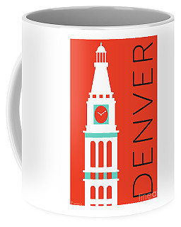 Denver D And F Tower/orange Coffee Mug