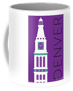 Denver D And F Tower/purple Coffee Mug