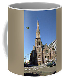 Coffee Mug featuring the photograph Denver Downtown Church by Frank Romeo