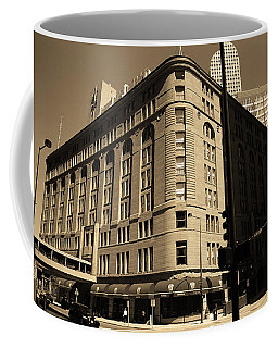 Coffee Mug featuring the photograph Denver Downtown Sepia by Frank Romeo