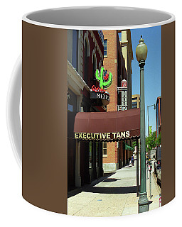 Coffee Mug featuring the photograph Denver Downtown Storefront by Frank Romeo