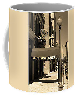Coffee Mug featuring the photograph Denver Downtown Storefront Sepia by Frank Romeo