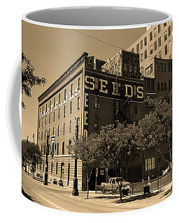 Coffee Mug featuring the photograph Denver Downtown Warehouse Sepia by Frank Romeo