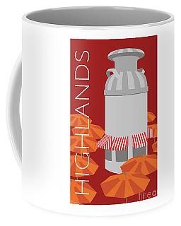 Denver Highlands/maroon Coffee Mug