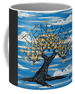 Coffee Mug featuring the drawing Denver Love Tree by Aaron Bombalicki