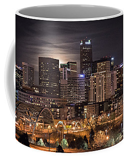 Denver Skyline At Night Coffee Mug