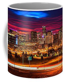 Denver Skyline Sunrise Coffee Mug