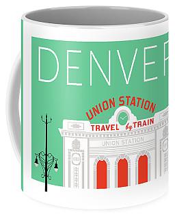 Denver Union Station/aqua Coffee Mug