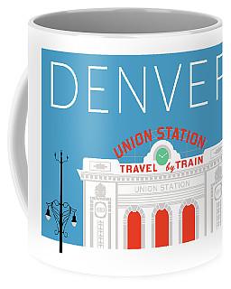 Denver Union Station/blue Coffee Mug