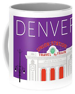 Denver Union Station/purple Coffee Mug