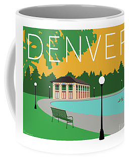 Denver Washington Park/gold Coffee Mug