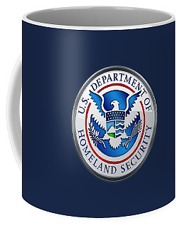 Department Of Homeland Security - D H S Emblem On Blue Velvet Coffee Mug