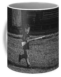 Coffee Mug featuring the photograph Deploy The Guard Bw by Jeff at JSJ Photography