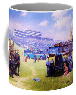 Derby Day Epsom 1929. Coffee Mug
