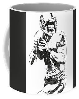 Derek Carr Oakland Raiders Pixel Art Coffee Mug