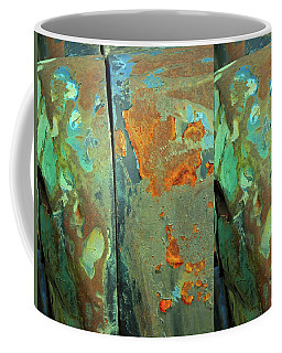 Coffee Mug featuring the mixed media Dereliction Of Paint 2 by Lynda Lehmann