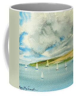 Dark Clouds Threaten Derwent River Sailing Fleet Coffee Mug