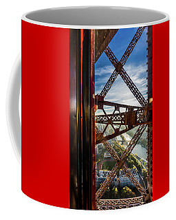 Descending In The Lift Of The Eiffel Tower. 1 Coffee Mug