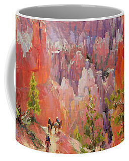 Coffee Mug featuring the painting Descent Into Bryce by Steve Henderson