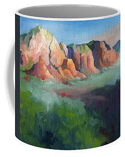 Desert Afternoon Mountains Sky And Trees Coffee Mug