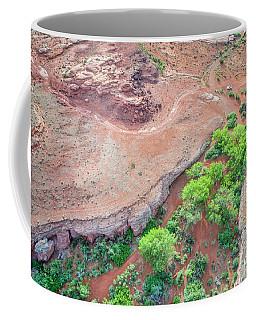 desert canyon in Utah aerial view Coffee Mug