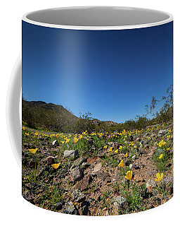 Desert Flowers In Spring Coffee Mug by Ed Cilley