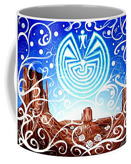 Coffee Mug featuring the painting Desert Hallucinogens by Michelle Dallocchio