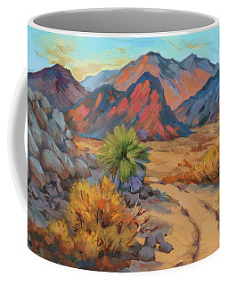 Coffee Mug featuring the painting Desert Morning Light by Diane McClary