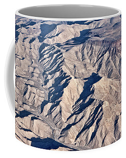 Coffee Mug featuring the photograph Desert Mountain Road by Linda Phelps