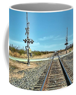 Desert Railway Crossing Coffee Mug