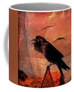Coffee Mug featuring the photograph Desert Raven by Mary Hone